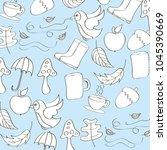 seasonal weather autumn | Shutterstock .eps vector #1045390669