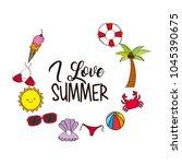 seasonal weather summer | Shutterstock .eps vector #1045390675