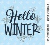seasonal weather winter | Shutterstock .eps vector #1045390885