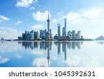 china shanghai the bund skyline. | Shutterstock . vector #1045392631