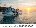 koh tao thailand   march3 2018  ... | Shutterstock . vector #1045393045