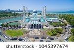 aerial view of kota kinabalu... | Shutterstock . vector #1045397674