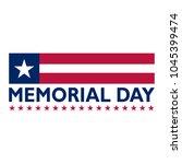 memorial day banner | Shutterstock .eps vector #1045399474