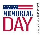 memorial day banner | Shutterstock .eps vector #1045399477