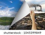 change concept  woman hand...   Shutterstock . vector #1045399849