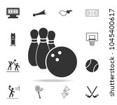 bowling and bowling ball icon....
