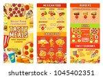 fast food restaurant menu... | Shutterstock .eps vector #1045402351