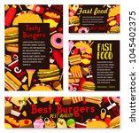 fast food restaurant posters of ... | Shutterstock .eps vector #1045402375