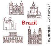 brazil architecture landmarks... | Shutterstock .eps vector #1045404337
