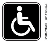 disabled wheelchair icon | Shutterstock .eps vector #1045408861