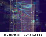 abstract techno background. | Shutterstock . vector #1045415551