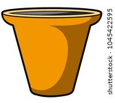 empty flower pot icon   Shutterstock .eps vector #1045422595
