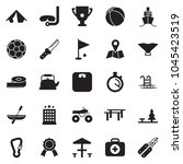 solid black vector icon set  ... | Shutterstock .eps vector #1045423519