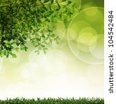 green grass and leave... | Shutterstock . vector #104542484