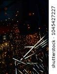 light from cutting steel  | Shutterstock . vector #1045427227