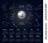 calendar  moon  zodiac... | Shutterstock .eps vector #1045429489