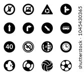 solid vector icon set   no... | Shutterstock .eps vector #1045430365