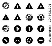 solid vector icon set   no... | Shutterstock .eps vector #1045431301