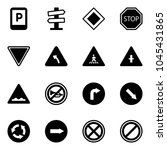 solid vector icon set   parking ... | Shutterstock .eps vector #1045431865