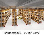 3d image of classic warehouse | Shutterstock . vector #104543399