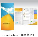 vector brochure layout design... | Shutterstock .eps vector #104545391