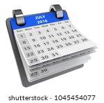 3d blue calendar isolated over... | Shutterstock . vector #1045454077