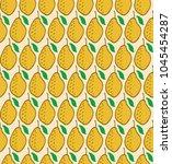 vector fresh lemon seamless... | Shutterstock .eps vector #1045454287