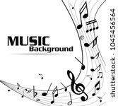 abstract music notes on line... | Shutterstock .eps vector #1045456564