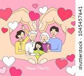 happy family illustration | Shutterstock .eps vector #1045457641