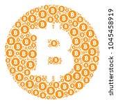 bitcoin coin collage organized...   Shutterstock .eps vector #1045458919