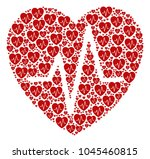 cardiology collage done in the... | Shutterstock .eps vector #1045460815