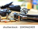 close up group pistol with... | Shutterstock . vector #1045462405