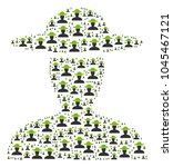 farmer person collage organized ...   Shutterstock .eps vector #1045467121