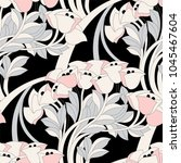 seamless floral pattern with... | Shutterstock .eps vector #1045467604