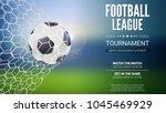 football game match goal moment ... | Shutterstock .eps vector #1045469929