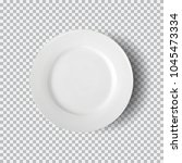 white plate isolated on... | Shutterstock .eps vector #1045473334