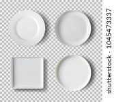 White Plate Set Isolated On...