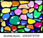 Colorful Sea Stones Background...