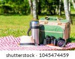 objects for recreation and... | Shutterstock . vector #1045474459