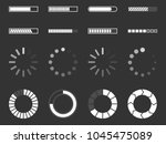 loading icons  load indicator... | Shutterstock .eps vector #1045475089