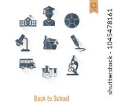 school and education icon set.... | Shutterstock .eps vector #1045478161