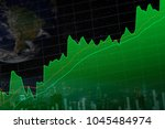 close up stock or forex chart... | Shutterstock . vector #1045484974