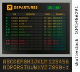 digital colorful airport board... | Shutterstock . vector #1045486291