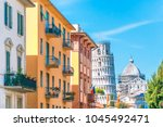 pisa street with views of the... | Shutterstock . vector #1045492471