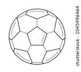 soccer ball vector line icon... | Shutterstock .eps vector #1045496464