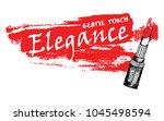 vector illustration lipstick... | Shutterstock .eps vector #1045498594