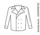 wool coat vector line icon... | Shutterstock .eps vector #1045498765