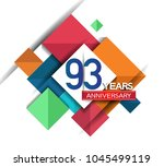 93 years anniversary design... | Shutterstock .eps vector #1045499119