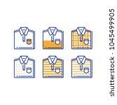 folded shirt icon set  men wear ... | Shutterstock .eps vector #1045499905