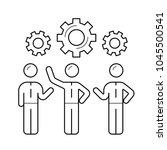 workforce vector line icon... | Shutterstock .eps vector #1045500541